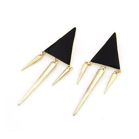 """Roxy"" Triangle and Spike Studs $8 http://www.milkymoon.com.au/products/roxy-triangle-and-spike-studs"