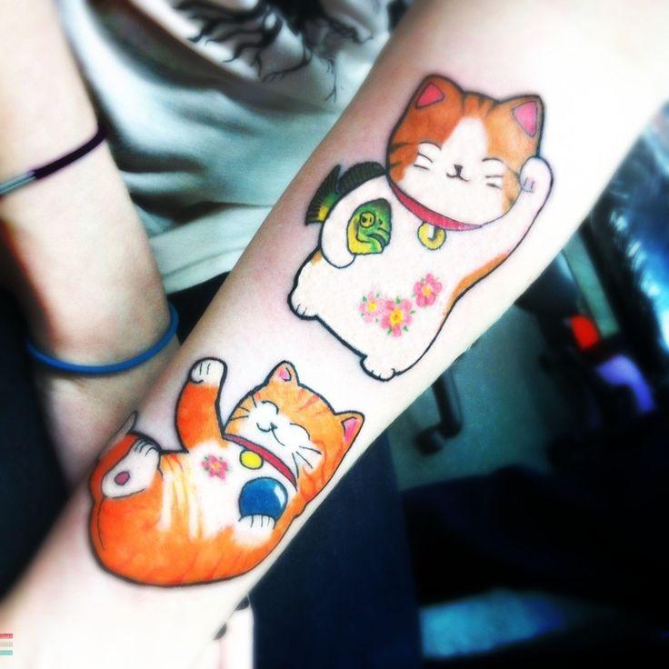 : Tattoo Ideas, Love Tattoo, Kitty Cat, Fashion Style, Tigers Oscars, 13 Ink, Oscars Fish, Neko Tattoo, Neko Cat