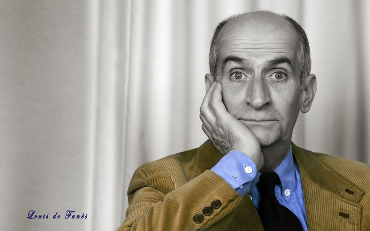 Louis de Funès; 31 July 1914 – 27 January 1983 was a very popular French actor of Spanish origin, who is one of the giants of French comedy alongside André Bourvil and Fernandel. His acting style is remembered for its high energy performance, a wide range of facial expressions and an engaging, snappy impatience.    He was enormously successful in several countries, but remained almost unknown in the English-speaking world.  In a 1968 poll, he was voted France's favourite actor.