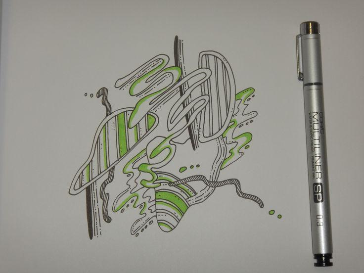 #doodleart #copicmarkers #sketchbook
