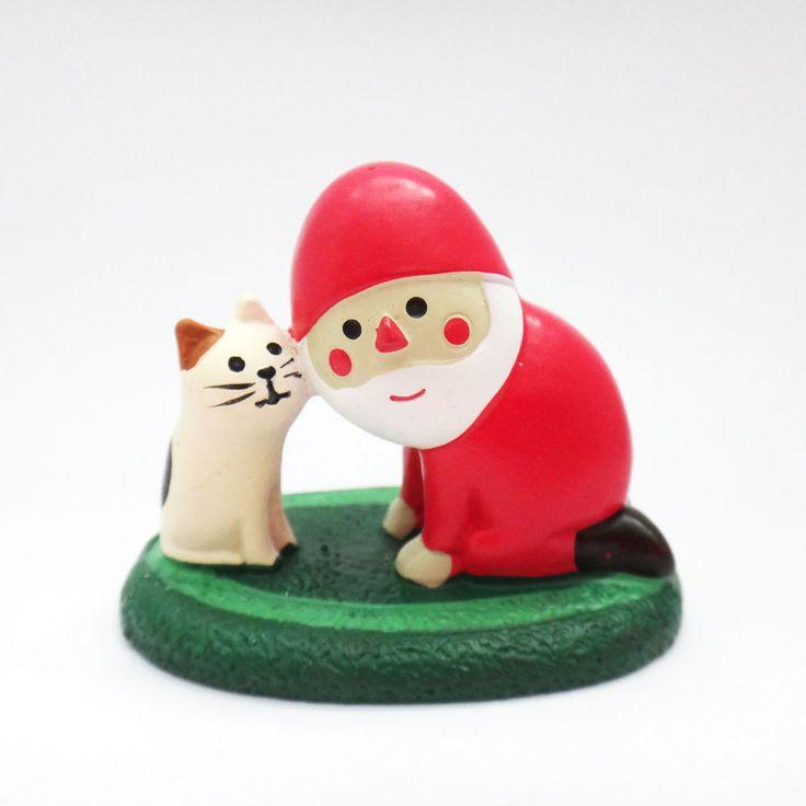 DECOLE Japan Cute Lovely Kawaii Figure Christmas Santa Whisper Cat #ConcombrebyDECOLE