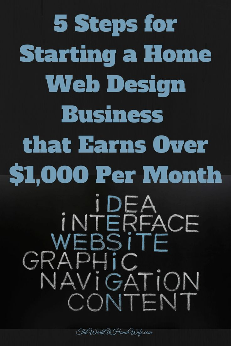 5 Steps For Starting A Web Design Business That Earns Over $1,000 Per Month