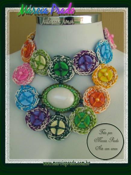 Botones de colores Collar
