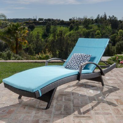 Lenahan Traditional Chaise Lounge with Cushion Color: Blue - http://delanico.com/chaise-lounges/lenahan-traditional-chaise-lounge-with-cushion-color-blue-734605792/