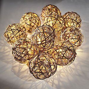 Seriously easy to make Pottery Barn knockoff string lights by using Dollar Store finds. So simple!