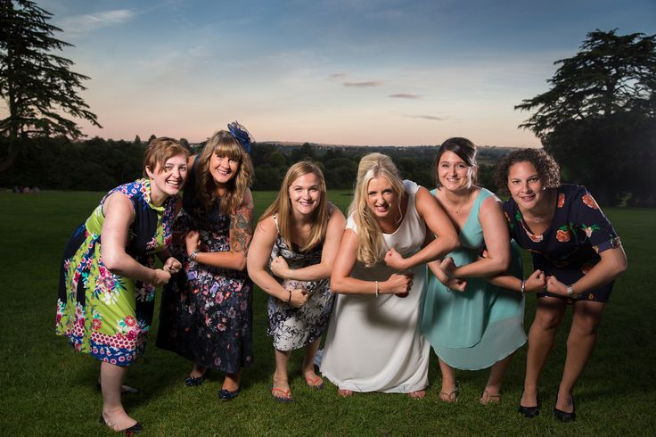 The girls rugby team #wedding #weddingphotography #Bathphotographer #bride #bridal #friends #natural #funny #spurofthemoment #strong #rugby