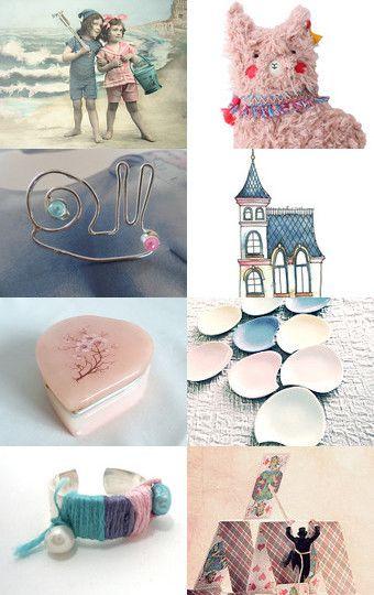 Soft and lush. Pink and blue pastels TreasuryPin.com #etsy #pastel #etsyleiden