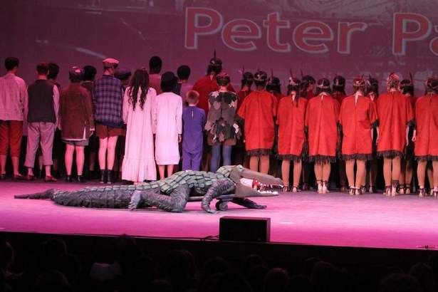 "Pleasantville High School performs a musical selection from ""Peter Pan"" at the 2013 Metropolitan High School Theater Awards at the Paramount..."