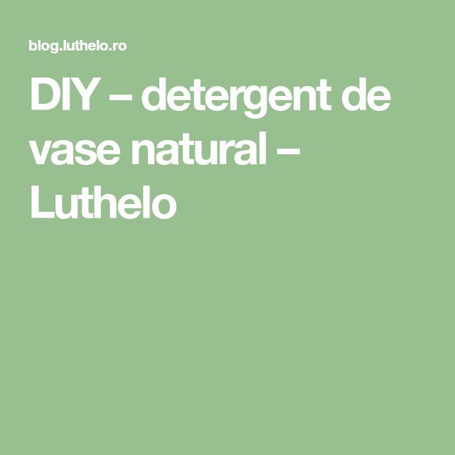 DIY – detergent de vase natural – Luthelo