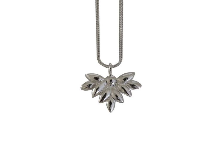 Foliage necklace; Material: sterling silver