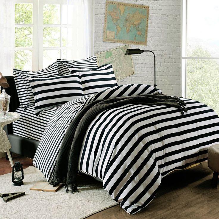 Black White Bedding Accent Color