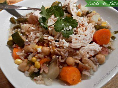 recipe image Authentic Mexican Chicken Noodle Soup: Crock Pot Caldo de Pollo Recipe