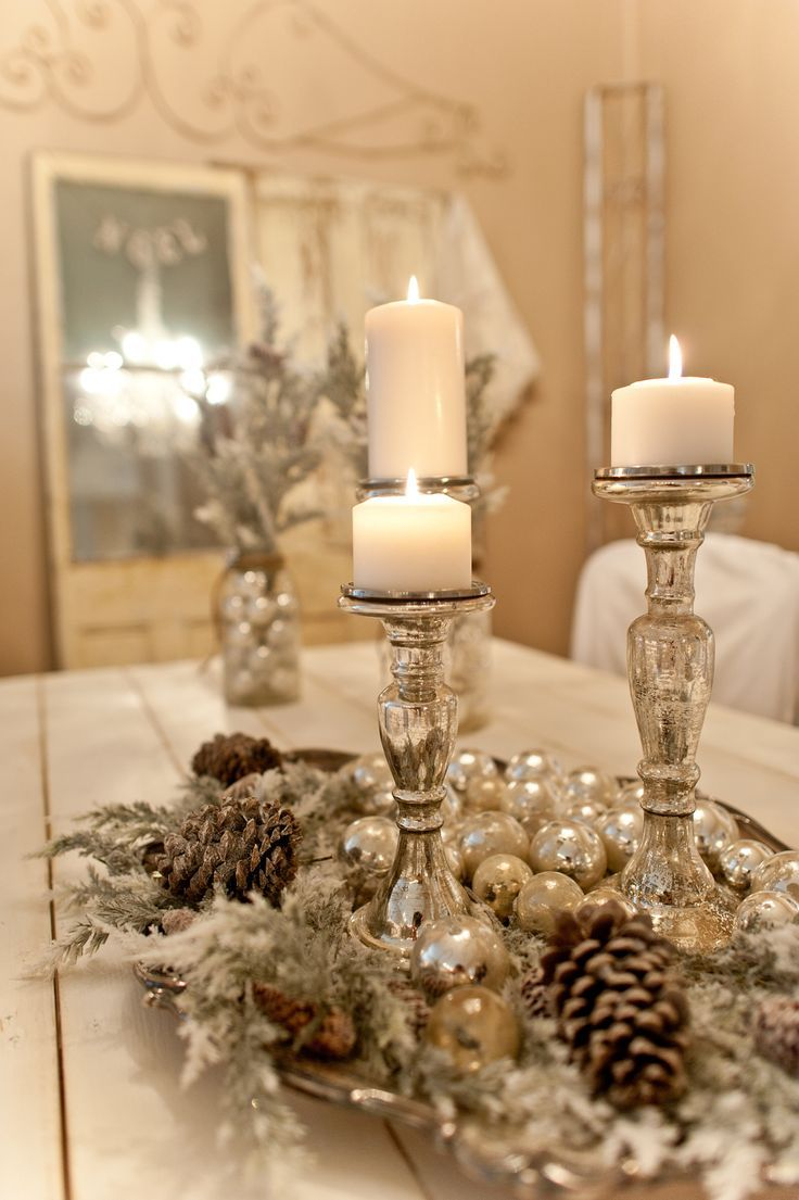 White and gold christmas decorating ideas - Find This Pin And More On Christmas Gold Silver Theme