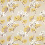 Millwood Yellow Leaf Cotton/Linen Curtain Fabric alternative image