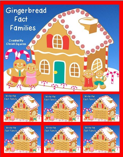 Gingerbread Fact Families (SMARTBoard Lesson) A Fun way to practice Fact Families. Grades 1-3. $