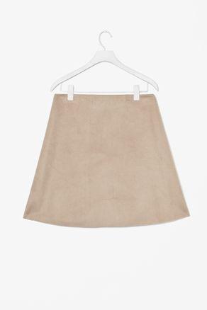 COS A-line moleskin skirt