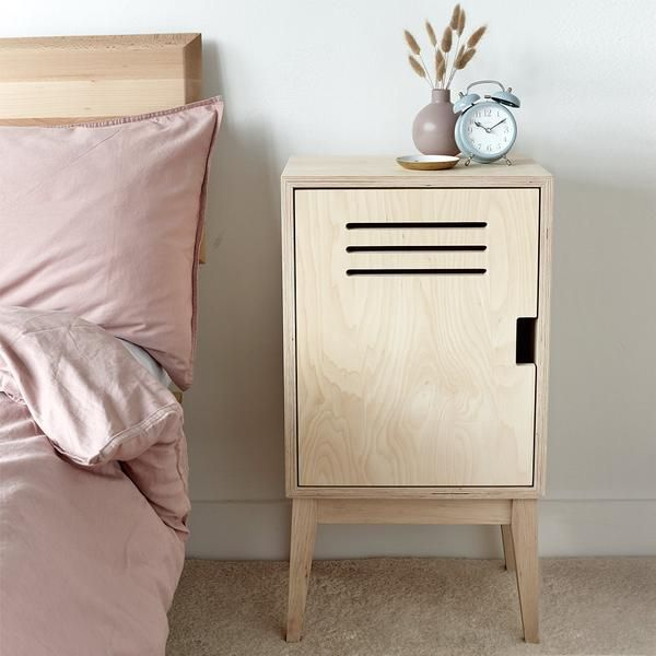 Plywood Locker Bedside Table In 2020 Small Furniture Bedroom
