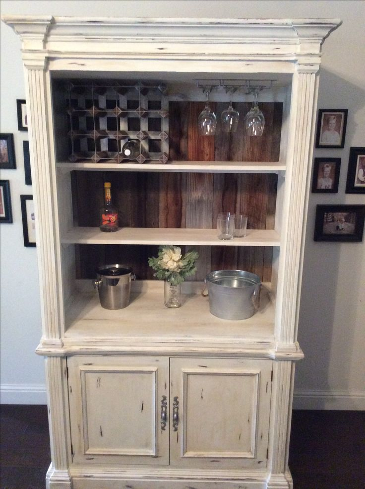 Cherry Tv Cabinet turned into China Hutch or a Wine Bar