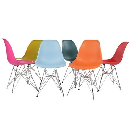 The Matt Blatt Replica Eames DSR Side Chair - Plastic by Charles and Ray Eames - Matt Blatt