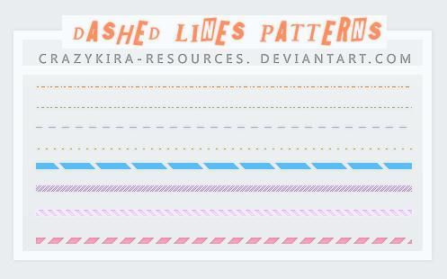 Dashed and Dotted Line Pattern Set for Photoshop
