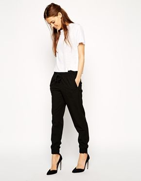 Woven Cuffed Trousers