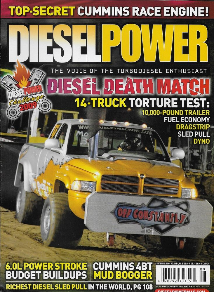 Diesel Power magazine Truck test Fuel economy Dragstrip Sled pull Dyno Bogger