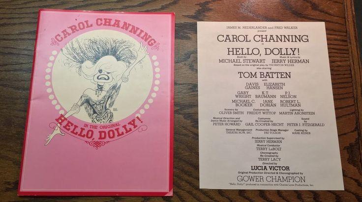 HELLO DOLLY Souvenir Program CAROL CHANNING / Nederlander, Batten w/ Insert