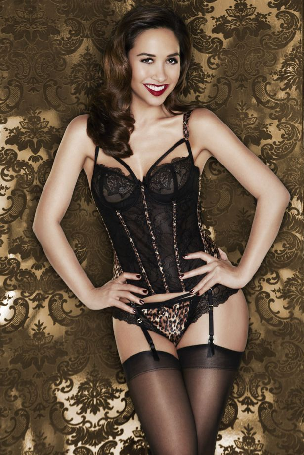 Myleene Klass sexy lingerie Littlewoods campaign stockings and ...