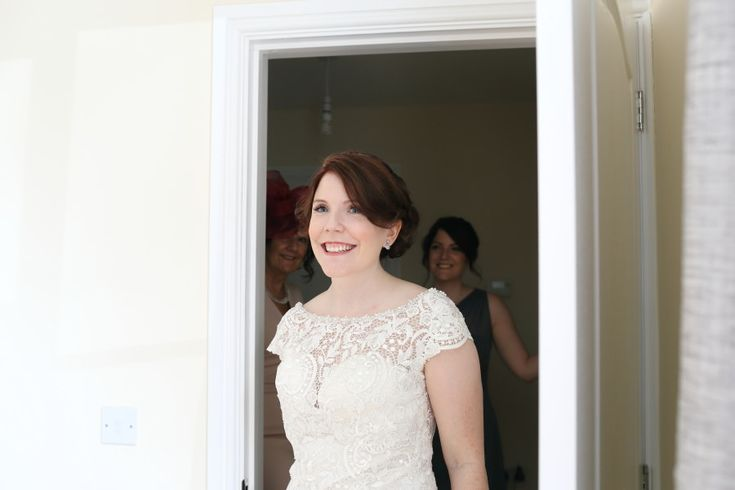 brautiful bride seeing her father for the first time, suffolk wedding…