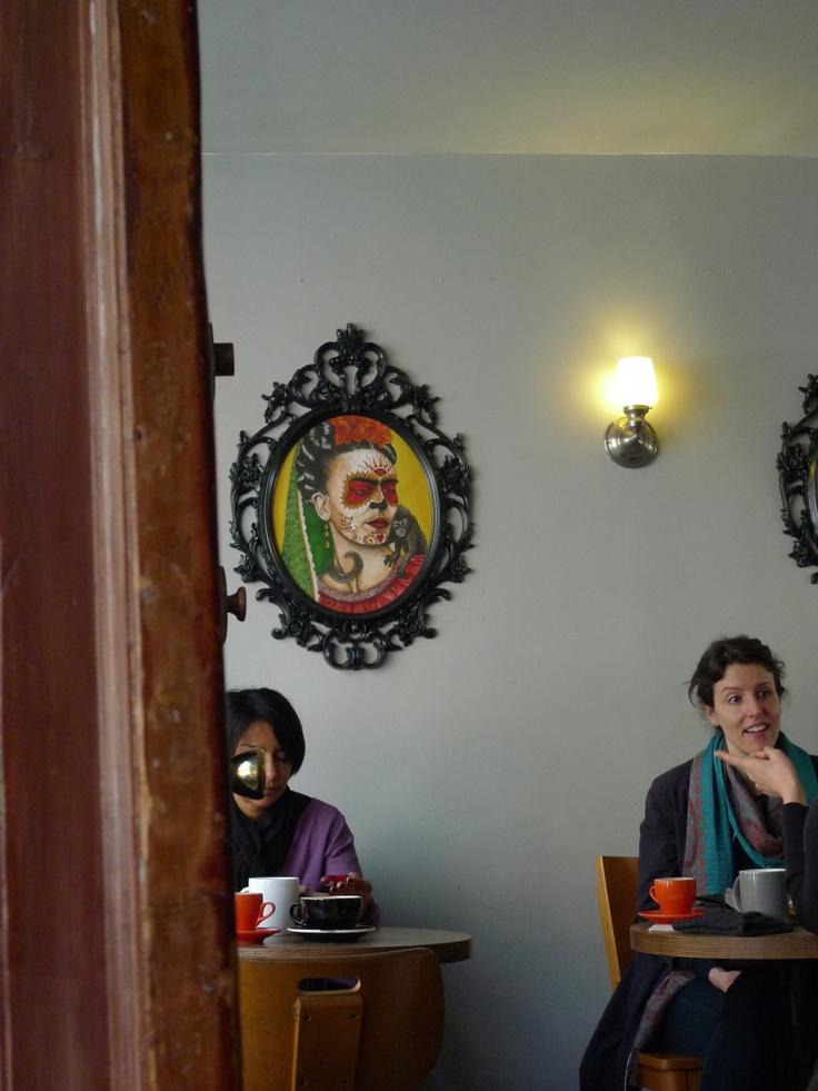 Frida Kahlo Portrait (Exhibition at Cafe Grumpy, New York City - Chelsea)