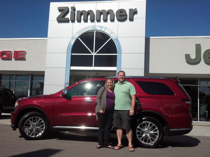 Here are Rebecca and Matt Williamson with their new 2014 Dodge Durango Citadel!  With two young boys to tote around the Williamsons are set with plenty of comfort, convenience and security for their family.  We thank Rebecca and Matt for their patronage and heartfelt congratulations on the arrival of their youngest son.  :)  Dodge makes the Durango and Zimmer makes the difference!  www.zimmermotors.com