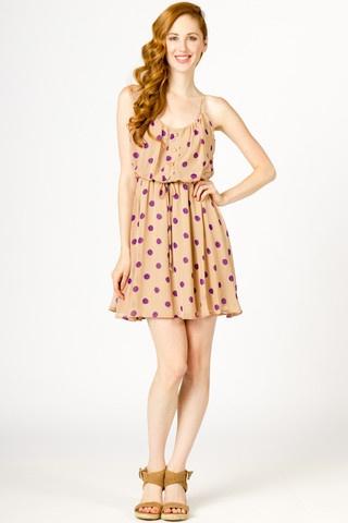 Polkadot Chiffon Dress