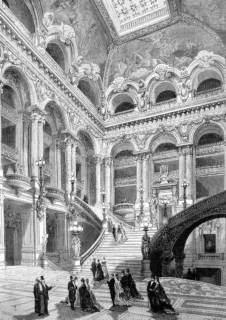 The New Opera House in Paris L'Escalier D'Honneur The Illusrrated sporting and dramatic news 1875 January 16