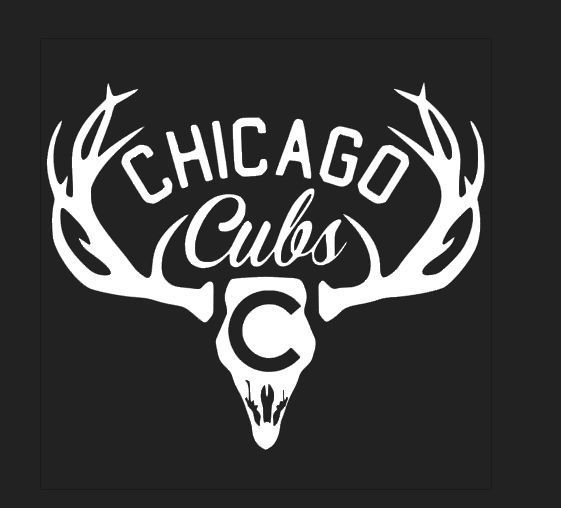 Deer Hunting Antler Truck or Car Window Decal Chicago CUBS World Series Baseball #VERHINEDESIGNS #CarDecal