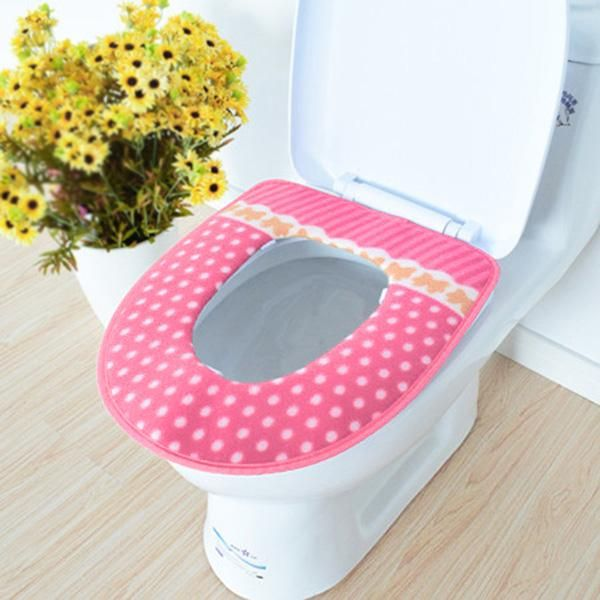 Winter Bathroom Products Toilet Seat Cover Warmer Fleece Thick Soft Comfortable Baby Potty Seats Case Bathroom Accessory 2016
