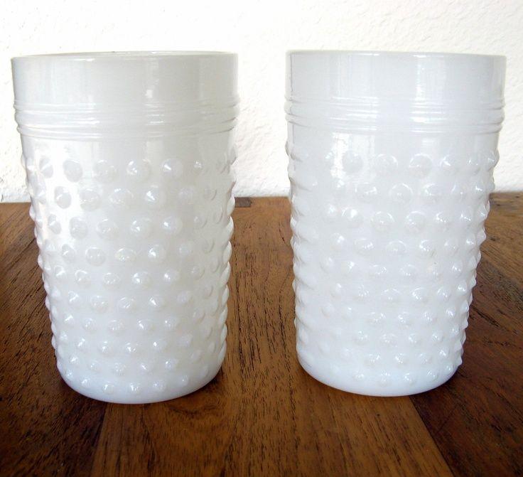 milk white drinking glasses set | Hobnail Milk Glass Drinking Glasses | The Cream Event