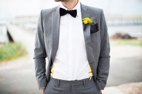 grå kostym