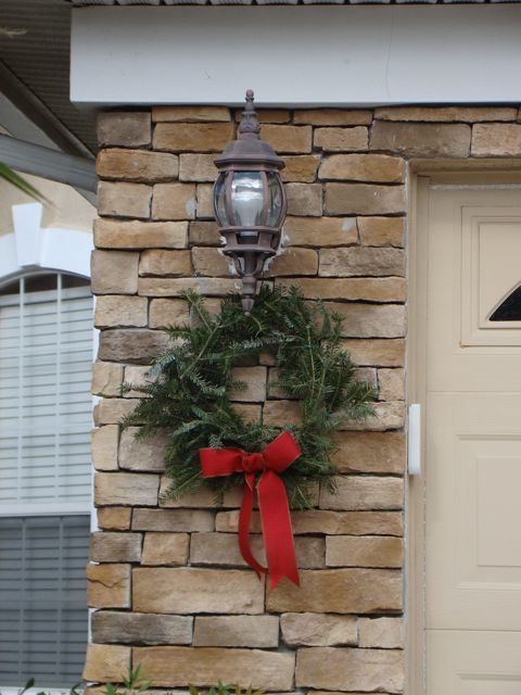 Christmas Wreath Outdoor Using Free Tree Trimmings From Home Depot Winter Decor Pinterest