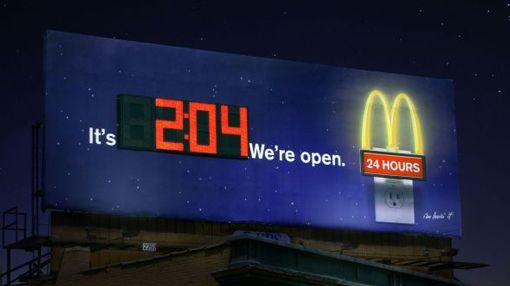 McDonald's  clock billboard