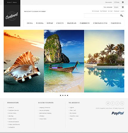 Magento #template // Regular price: $180 // Unique price: $2500 // Sources available: .PSD, .XML, .PHTML, .CSS #Travel #Magento