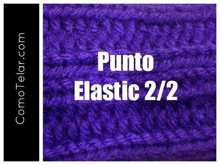 PUNTO ELASTICO 2/2 Tejido enTelar - Loom Knit Double Ribbed Stitch