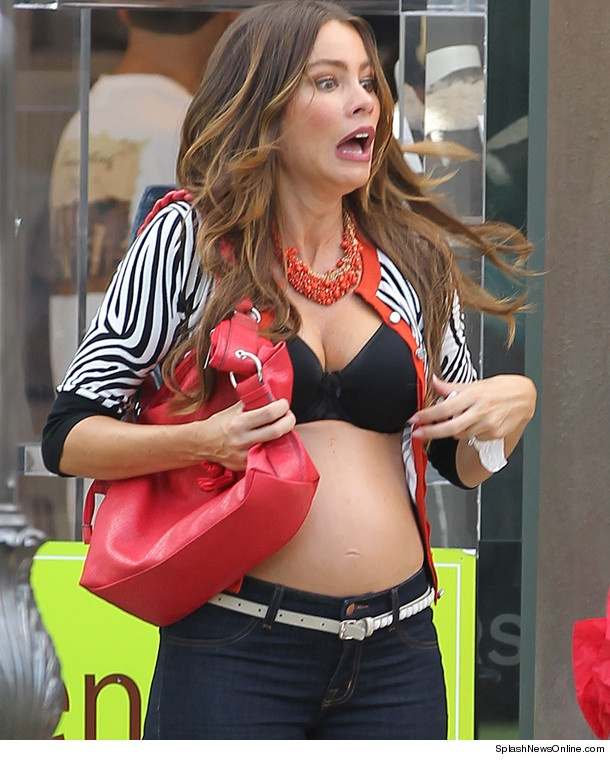 Sofia Vergara Busts Out of Her Top At L.A. Mall!