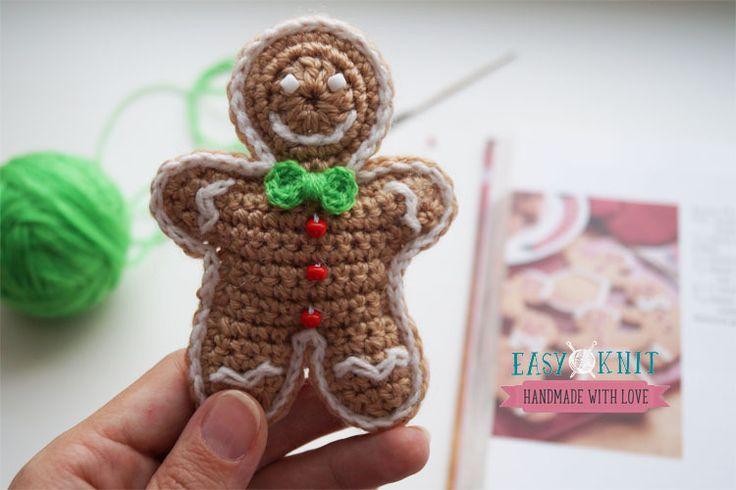 Пряничный человечек крючком. Gringerbread man crochet/