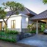 Villa Walanda Front: Villa Walanda is a ground floor villa with 2 bedrooms, 2 bathrooms and a guest toilet. This villa can be extended with an additional built-in 3rd bedroom.