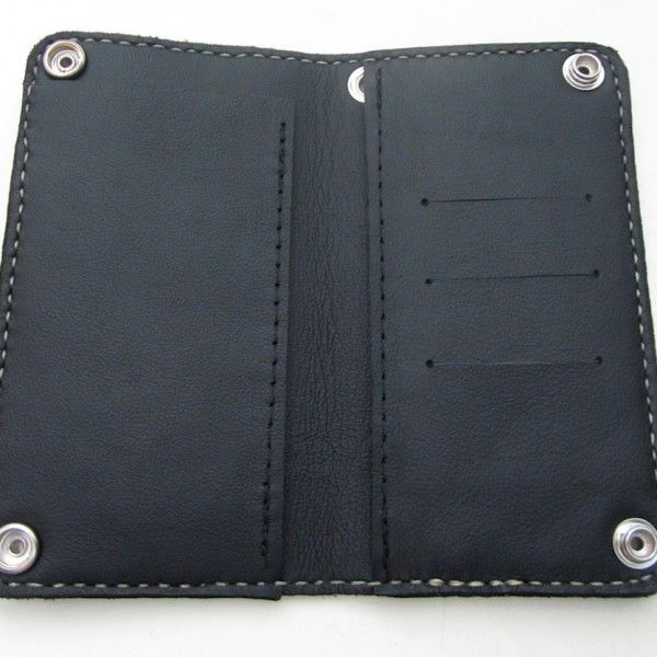 inside of our classic biker wallet