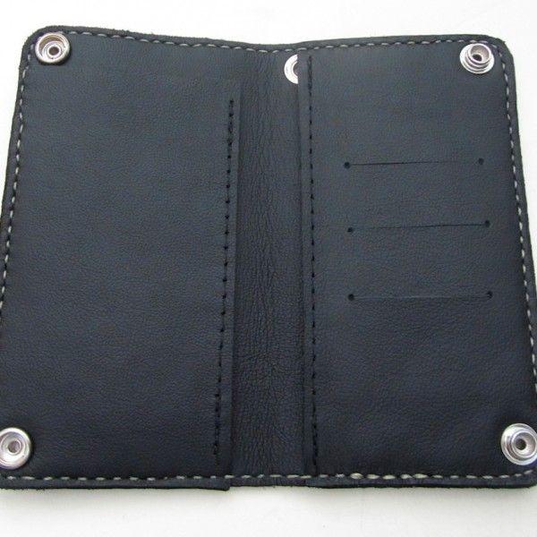 inside of our classic biker wallet
