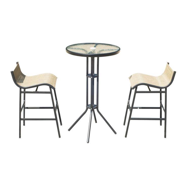 Outdoor Bistro Set 3 Pc Patio Pub Bistro Table & Chairs Garden Furniture NEW #1