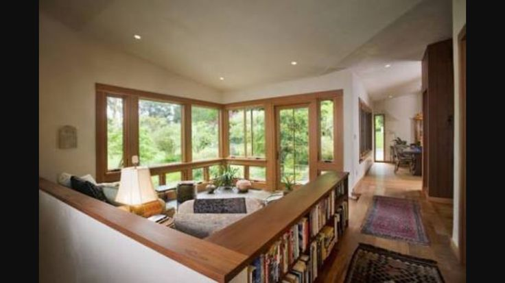 cabinetry + indoor/outdoor + books
