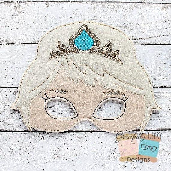 Queen Felt Mask Embroidery Design 5x7 Hoop or by GracefullyGeeky