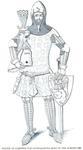 Günther von Schwarzburg A (1349) (Effigies and Brasses) Showing splinted limb defenses.